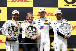 Podium: Race winner Marco Wittmann, BMW Team RMG, second place Timo Glock, BMW Team RMG, third place