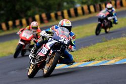KY Ahamed, TVS Racing winner of the Super Sport Indian 165cc race