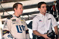 Brad Keselowski, Team Penske, Ford Fusion Miller Lite and Travis Geisler