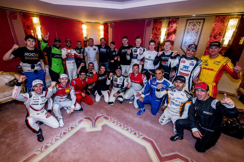 The drivers before the ROC Nations Cup