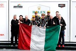 Winner GTD: #11 GRT Grasser Racing Team Lamborghini Huracan GT3: Rolf Ineichen, Mirko Bortolotti, Franck Perera, Rik Breukers