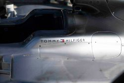Tommy Hilfiger logo on the Mercedes AMG F1
