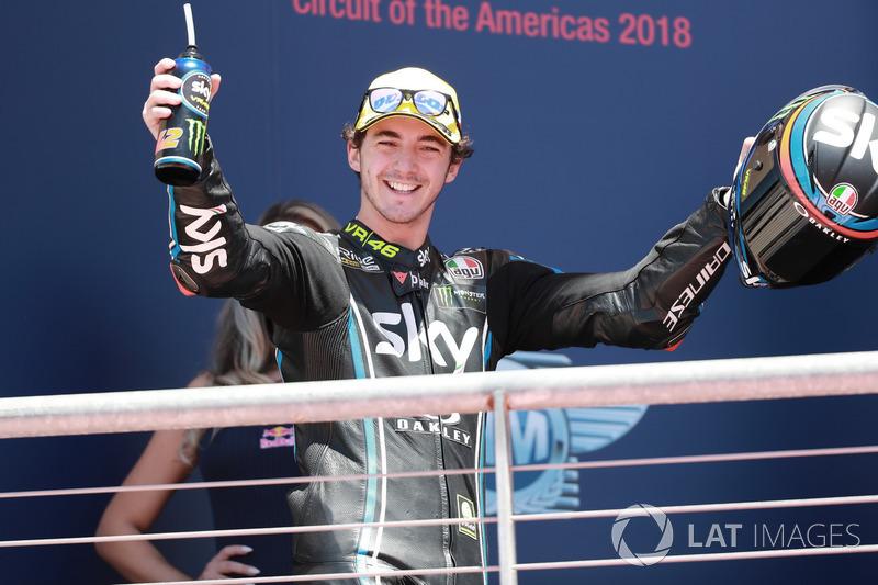 Podio: il vincitore della gara Francesco Bagnaia, Sky Racing Team VR46