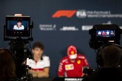 Charles Leclerc, Sauber en la conferencia de prensa