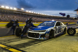 Alex Bowman, Hendrick Motorsports, Chevrolet Camaro Nationwide, makes a pit stop