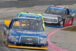 Chase Briscoe, Brad Keselowski Racing Ford, Matt Crafton, ThorSport Racing Toyota