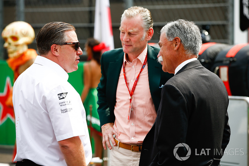 Zak Brown, Executive Director, McLaren Technology Group, Sean Bratches, Managing Director of Commerc