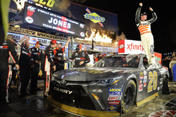 Race winner Erik Jones, Joe Gibbs Racing Toyota