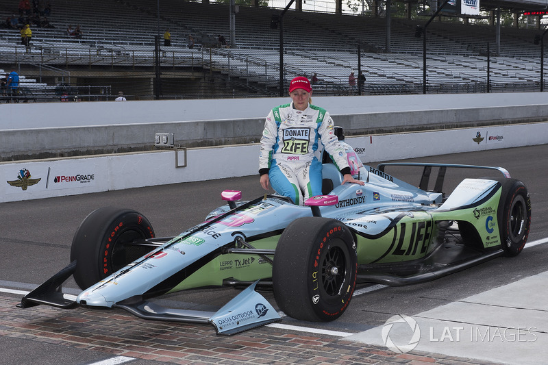 Pippa Mann after failing to qualify for this year's race, Dale Coyne Racing Honda