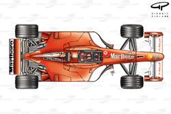 Ferrari F2001 (652) 2001 top view