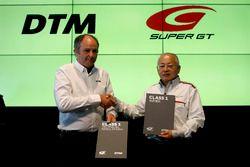 Gerhard Berger, ITR Chairman, Masaaki Bandoh, Chairman GTA with the new Class 1 regulation