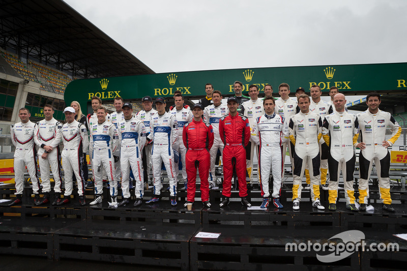 GTE Pro drivers group photo