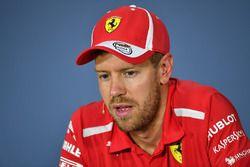 Sebastian Vettel, Ferrari, basın toplantısı