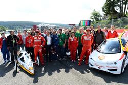 Fernando Alonso, Ferrari e Kimi Raikkonen, Ferrari all'evento Shell eco car