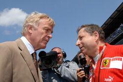 Jean Todt, Ferrari talks to Max Mosley, FIA President