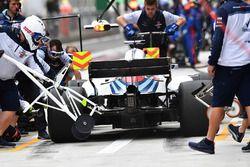 Arrêt au stand de Lance Stroll, Williams FW41