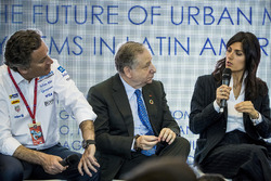 Alejandro Agag, CEO, Formula E, Jean Todt, FIA President, Virginia Elena Raggi, Mayor of Rome, in the FIA Smart Cities conference