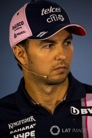 Sergio Perez, Force India, en conférence de presse