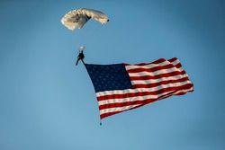 Pre race skydiver
