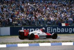 Alain Prost, McLaren MP4/2C komt zonder brandstof te staan