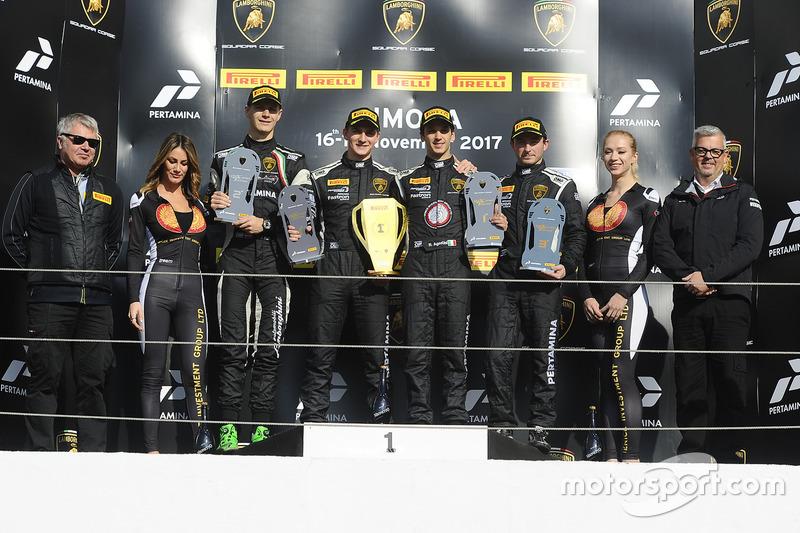 Podium North America: race winners Trent Hindman, Ricardo Agostini, Prestige Performance, second pla