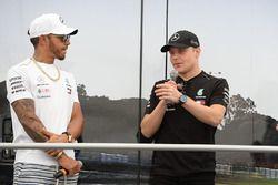 Lewis Hamilton, Mercedes-AMG F1 e Valtteri Bottas, Mercedes-AMG F1 sul palco