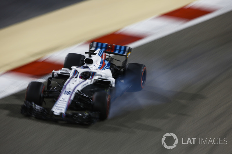 Lance Stroll, Williams FW41 Mercedes, bloccaggio