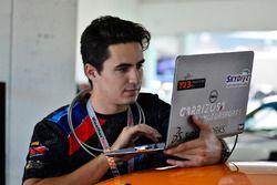 Crews work on the #61 MP1B Porsche GT3 Cup, Sebastian Carazo, TLM USA