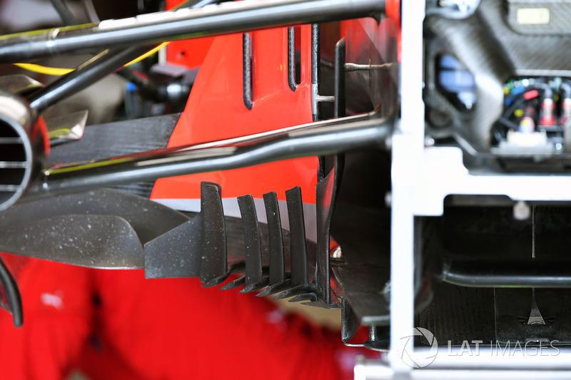Детали дефлектора Ferrari SF71H