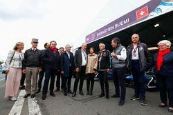 Alejandro Agag, PDG de la Formule E, avec la maire de Paris Anne Hidalgo et des invités