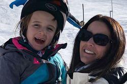 Justin Wilson's widow Julia and their kid