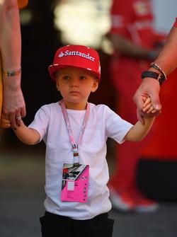 Robin Raikkonen, le fils de Kimi Raikkonen, Ferrari