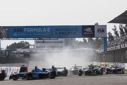Nicolas Prost, Renault e.Dams, alla partenza della gara