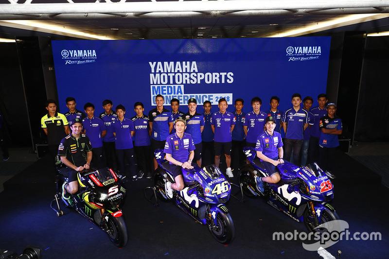 Skuat pembalap Yamaha di MotoGP, World Superbike, World Supersport 300, CEV dan ARRC musim 2018