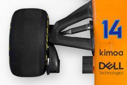 McLaren MCL33 detail ophanging vooraan