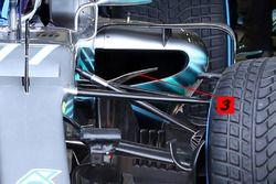 Mercedes W09 bumerang kanat ve sidepod girişi