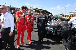 Mattia Binotto, Ferrari Chief Technical Officer on the grid