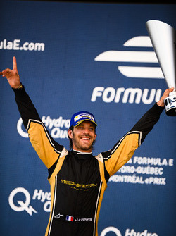 Jean-Eric Vergne, Techeetah, celebrates on the podium