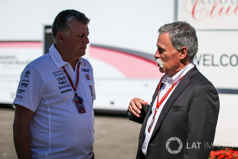 Отмар Сафнауер, головний операційний директор Sahara Force India F1, Чейз Кері, голова групи Формули 1