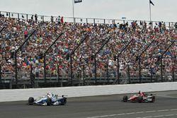 Max Chilton, Chip Ganassi Racing Honda, Mikhail Aleshin, Schmidt Peterson Motorsports Honda