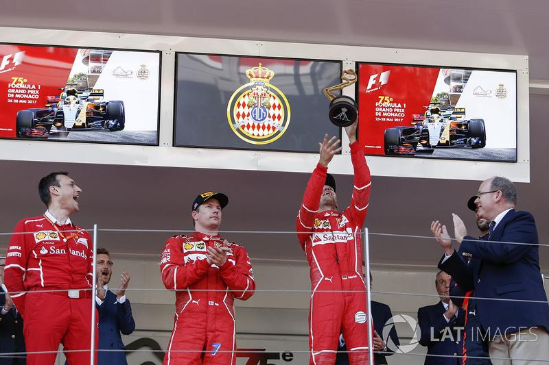 Riccardo Adami, Ferrari Yarış Mühendisi ve Kimi Raikkonen, Ferrari ve Sebastian Vettel, Ferrari