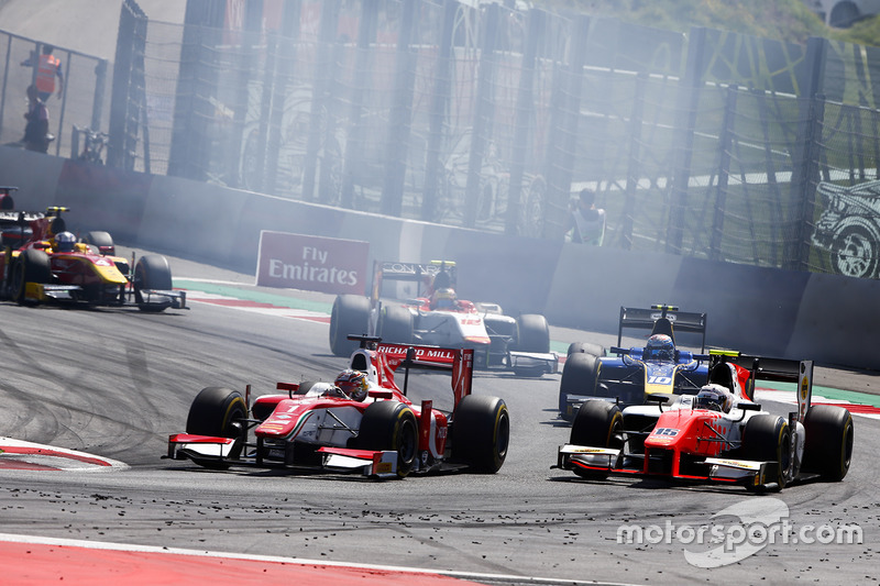 Charles Leclerc, PREMA Powerteam. and Jordan King, MP Motorsport