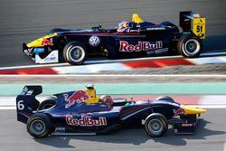 Une GP3 et une F3, pilotées par Daniil Kvyat en 2013