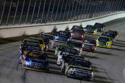 Chase Briscoe, Brad Keselowski Racing Ford, Justin Haley, GMS Racing Chevrolet
