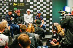 Conferencia de prensa Petter Solberg, PSRX Volkswagen Sweden, VW Polo GTi, Janis Baumanis, STARD, Ford Fiesta, Reinis Nitiss, EKS, Audi S1 EKS RX Quattro, Sebastien Loeb, Team Peugeot-Hansen, Peugeot 208 WRX