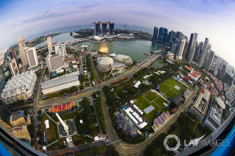 Una vista aerea del circuito