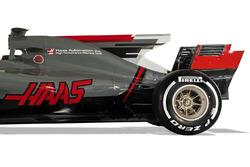 Haas VF-17: Motorhaube, Finne, Heckflügel