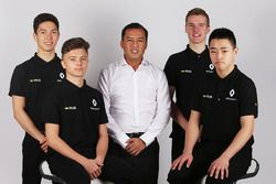 Renault Sport Academy Drivers with Renault Sport Academy Director, Jack Aitken, Jarno Opmeer, Sun Yu