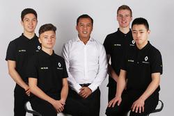 Renault Sport Academy leden Jack Aitken, Jarno Opmeer, Sun Yue Yang