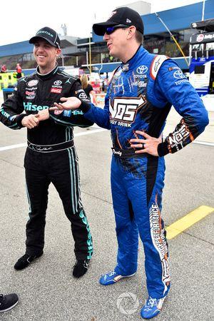 Denny Hamlin, Joe Gibbs Racing Toyota y Kyle Busch, Joe Gibbs Racing Toyota